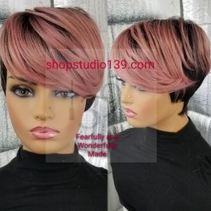 Sexy human hair wig with bangs